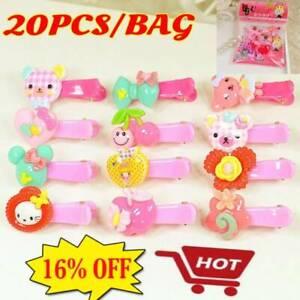 20pcs Girls Hairpin Mixed Assorted Baby Kid Children Cartoon Hair Pin Clips Sets
