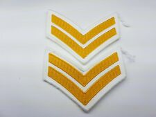 PAIR OF MILITARY PATCHES STRIPES, CORPORAL bar chevron insignia army Navy 2 Two