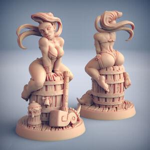 Runa Dwarf Busty Pinup - Artisan Guild Fantasy Dungeons and Dragons Miniature