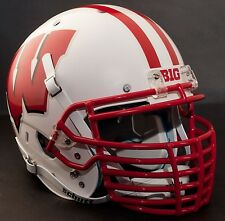 "WISCONSIN BADGERS ***MINI*** Football Helmet Nameplate ""BIG"" Decal/Sticker"
