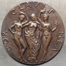 Beothy Laszlonak Playwright Journalist The Three Graces Bronze Medal 75 mm N142