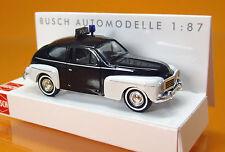 Busch 43917 Volvo 544  Limousine Buckelvolvo Politi Polizei Scale 1 87 NEU OVP