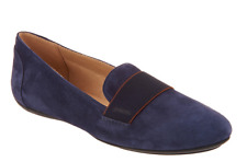 GEOX Suede Slip-On Shoes - Charlene Navy Blue Women's Size 7 New