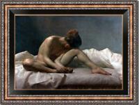 "Original Oil Painting female art nude girl on canvas 24""x36"""