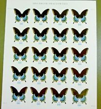 2012 66c Spicebush Swallowtail Butterfly Sheet of 20 Scott Mint VF NH Free Ship!