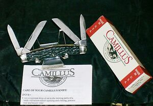 Camillus 91 Full Congress USA Knife Wide Grooved Bolsters W/Packaging,Paperwork
