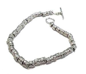 Bracciale argento 925 rodiato pipite Stile dodo anallergico regalo uomo donna