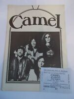 CAMEL 1976 CONCERT PROGRAMME UK TOUR AND TICKET FREE TRADE HALL