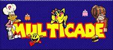 "2- New Arcade Design Classic blue dot marquee Multicade Art sticker 16""x 3"""