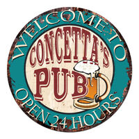 CPWP-0977 CONCETTA'S PUB OPEN 24HRS Chic Sign Mother's day Birthday Gift