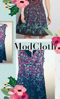 Modcloth Bijou Joys A-Line Dress in Music Notes Size M NWO