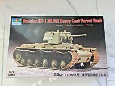 TRUMPETER 1/72 RUSSIAN / SOVIET KV-1 M1942 HEAVY CAST TURRET TANK MODEL 07231 BN