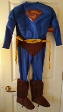 DC Comics Superman Costume Muscle Suit Rubies Costumes Boys Size Medium