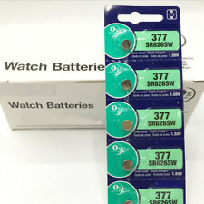 5pcs 1.55V 28 mAh Silver Oxide Button-Type Watch Batteries For Sony 377 SR626SW