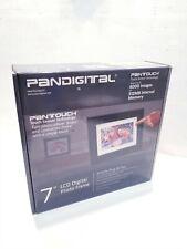 "Genuine Pandigital  7"" Touchscreen LCD Digital Photo Frame Black with Remote"
