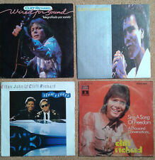 LOT of FOUR (4) CLIFF RICHARD SPANISH Singles P/sleeves.Telegrafiado por sonido