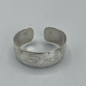 Northwest Coast Native Art (Haida) Sterling Silver Bear Bracelet