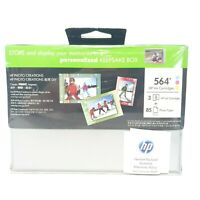 Hewlett Packard HP 564 Tri-Colour Printer Ink Cartridge + Photo Paper Pack