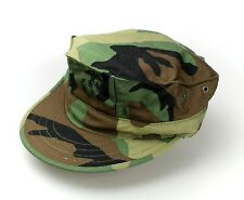 GENUINE USMC MARINE UTILITY CAP W/ LOGO 8 POINT WOODLAND RIPSTOP HAT - USA MADE