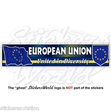 EUROPE European Union Flag-Coat of Arms United in Diversity 180mm Sticker, Decal
