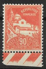 ALGERIE 90c ROUGE MOSQUEE N° 81 BORD DE FEUILLE NEUF * GOMME TRACE CHARNIERE