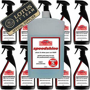 SPEEDSHINE CLEAN & SHINE FAST  QUICK DETAILER  WATERLESS CAR WASH  MAKES 5LITRES
