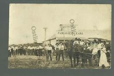 Fairhaven KANSAS RPPC c1910 GENERAL STORE Crowd nr Norton GHOST TOWN! Norton Co.