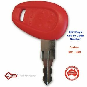 GIVI Motorcycle Top Box Keys Cut From A Code Number 001-400 -Free Post In Aust!