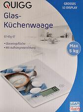 Digitale Glas-Küchenwaage 5 Kg/1 g Waage Briefwaage Haushaltswaage / NEU!