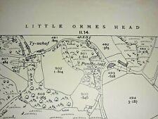 Old Antique Ordnance Map 1937 Caernarvonshire V.2 Penrhyn-side & Penrhyn Bay ...
