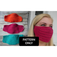 PATTERN ONLY crochet face mask with filter pocket PATTERN ONLY