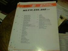 Stihl  MS 210. 230, 250  [1123] spare parts list