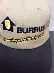 Burris Seeds SnapBack Hat K-products New Without Tag Embroidered Logos. Farmers.