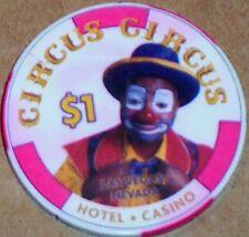 Old $1 CIRCUS CIRCUS Casino Poker Chip Vintage Chipco Mold Las Vegas NV 2000