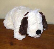 2 in 1 Kuscheltier Kissen Hund braune Ohren Schmusekissen Stoftier Spielzeug