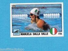 SUPERSPORT 1988-PANINI 88-Figurina n.125- DALLA VALLE - ITALIA -NUOTO-Rec
