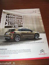 *AN17=CITROEN DS4=PUBBLICITA'=ADVERTISING=WERBUNG=COUPURE=