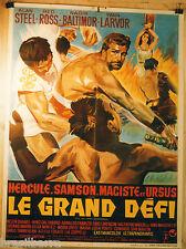 AFFICHE CINEMA : HERCULE-SAMSON-MACISTE et URSUS LE GRAND DEFI 1965