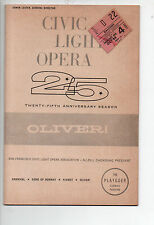 Oliver! San Francisco Curran Theatre Playgoer 1962 Clive Revill Georgia Brown VG