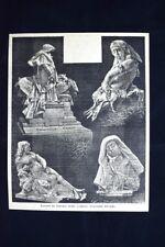 Lavori in marmo dello scultore Giovanni Broggi Incisione del 1886