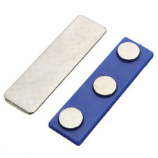 Strong Magnetic Name Tag Badge PINS Magnet ID Holder Metal Card Set 46x13mm