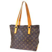 Auth LOUIS VUITTON Cabas Piano Shoulder Bag Monogram Leather BN M51148 38SB437