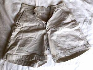 "Patagonia ORGANIC COTTON Shorts 34 Button & Zip Front w/ 6"" Inseam Drop"
