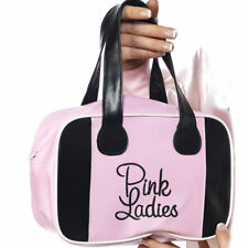 Ladies Licensed Grease Pink Lady 50s Bowling Bag Fancy Dress Accessory Handbag