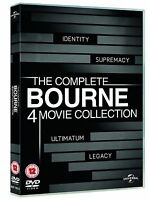 BOURNE Series 1-4 Complete Movie Collection 1 2 3 4 Box Set New UK Region 2 DVD