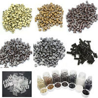 1000 Pcs Shrink Silicone Micro Link Ring Crimp Beads for Feather Hair Extensions