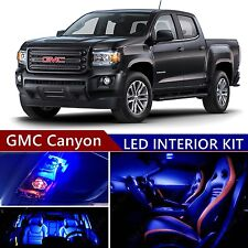 12pcs LED Blue Light Interior Package Kit for GMC Canyon 2015-2017