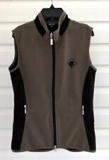☀️ARISTA VEST Equestrian Horse Logo Full-Zip Polyester Stretch ~ Women's Small