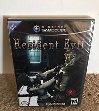 Resident Evil BLACK LABEL SEALED! Y-FOLD 1st PRINT! Nintendo GameCube NICE COND!