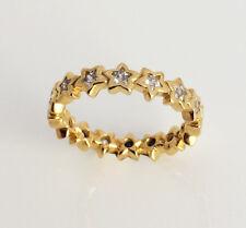Genuine Pandora Starshine Stackable Ring Sz 54 14K Gold Vermeil 190974CZ